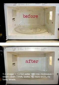 Steam Clean your microwave