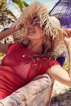 66af854692832 Urban Outfitters playa fringed brim floppy hat Summer Skin