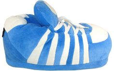 Blue 5 Stripe Go Happy Feet Slippers