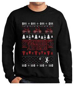 Tstars TeeStars - Merry Christmas The Upside Down Ugly Christmas Women Sweatshirt XX-Large Black Best Ugly Christmas Sweater, Christmas Tops, Christmas Trends, Christmas Shirts, Merry Christmas, Christmas Clothing, Thing 1, Graphic Sweatshirt, Sweatshirts