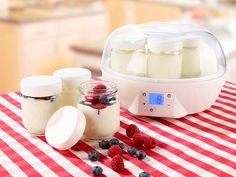 Rosenstein & Söhne Joghurt Maker mit Portionsgläsern (7 x 200 ml)