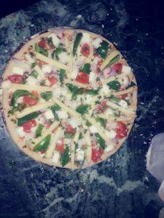 Baby corn large pizza