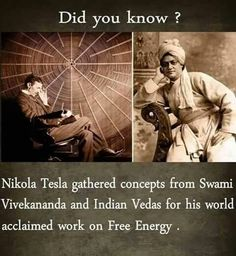 Nikola Tesla gathered concepts from Swami Vivekananda and Indian Vedas from his world acclaimed work on free Energy. Gernal Knowledge, General Knowledge Facts, Knowledge Quotes, Science Words, Science Facts, Fun Facts, Unique Facts, Nikola Tesla Quotes, Nicola Tesla