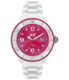 Montre Ice-Watch blanche Sili à € ➤ Revendeur Agréé Big Watches, Modern Watches, Sport Watches, Wrist Watches, Ice Watch Blanche, Seiko, Swatch, Bracelet Silicone, Pink Watch
