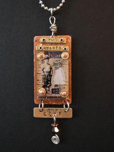 Copper & Acrylic Necklace  Gaye Medbury