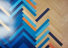 Brilliant Herringbone Floors Create Colorful Graphic Interiors ...