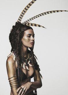 "Native Spirit * Boho Style - Nuria Nieva en ""Nomad"" por Jesús Alonso para ELLE Rumania, agosto 2014"