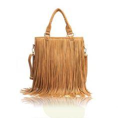 New Arrival Solid Color and Tassels Design Street Level Handbag For Women (KHAKI) At Price 12.29 - DressLily.com
