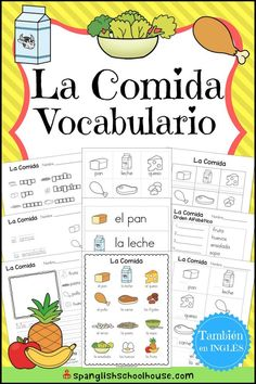 Awesome collection of Spanish Vocabulary printables for Spanish Preschool, Spanish Immersion Kindergarten, and Elementary Spanish. Teach Yourself Spanish, Spanish Lessons For Kids, Learning Spanish For Kids, Spanish Basics, Spanish Teaching Resources, Spanish Lesson Plans, Spanish Activities, Spanish Language Learning, How To Speak Spanish