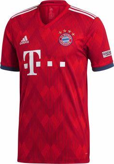 2018 19 adidas FC Bayern Home Jersey. Available at SoccerPro. Arsenal  Jersey 45b7775e6