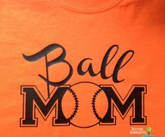 BALL MOM Glittery T-shirt, softball or baseball
