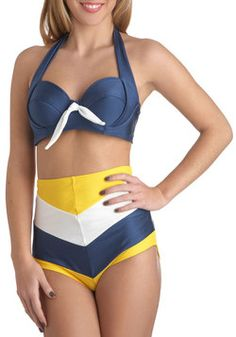 Sailorette at Sea Swimsuit Top, #ModCloth really like this top!