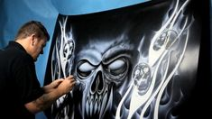 The Airbrush Academy Guide to Airbrushing Realistic Fur - PaintingTube Air Brush Painting, Car Painting, Airbrush Skull, Airbrush Designs, Custom Paint Jobs, Custom Cars, Japanese Dragon, Cool Artwork, Amazing Artwork
