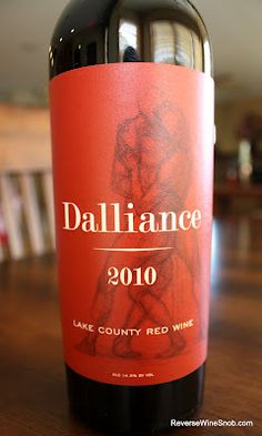 Dalliance Lake County Red Wine 2010 - Far From A Boring Blend. $11.99, http://www.reversewinesnob.com/2012/10/dalliance-lake-county-red-wine-2010-far-from-boring.html