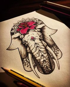 La cliente ha cambiato idea sulla bozza perciò questo disegno è disponibile per essere tatuato! Info in privato #handoffatima #handofmiriam #hamsa #khamsa #elephant #elephanttattoo #lily #lilytattoo #gigliomartagone #flowertattoo #botanical #ornamental #geometric #mandala #mandalatattoo #tattooflash #tattoodesign #tattoosketch #dotwork #tattooidea #sketch #drawing #italy