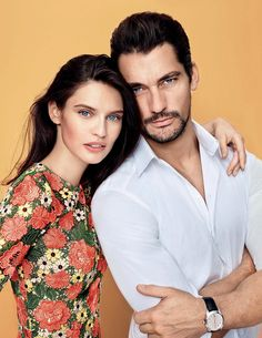 David Gandy with Bianca Balti for Gioia! Italy #23, June 2014.  David is wearing Dolce  Gabanna.  Photographed by Fabio Leidi.  Styling: Maria Giulia Riva. Grooming: Noelia Corral.