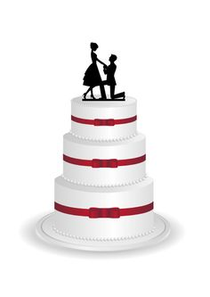 Bride and Groom Cake Topper - Wedding Cake Topper Silhouette