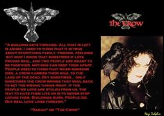 The Crow quote from the end of the movie