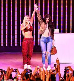 Kylie Jenner makes surprise appearance during Pia Mia's show with Tyga #dailymail