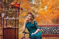 Nature decoration, autumn photo
