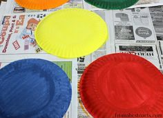Paper Plate Ring Toss Circus Game for - Circus Preschool Theme Unit