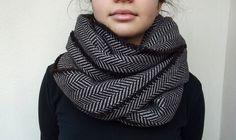 atohumcu | herringbone infinity scarf