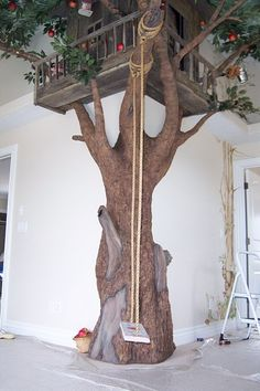it would be a dream to do a kids play room with a tree like this in it