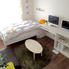 8さんの、部屋全体,観葉植物,無印良品,雑貨,ワンルーム,一人暮らし,ニトリ,フランフラン,ホワイトインテリア,鹿児島睦,のお部屋写真