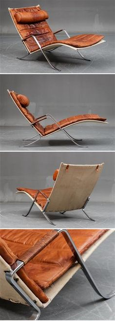 Fabricius Kastholm, FK 87 'Grasshopper' - created on Metal Furniture, Vintage Furniture, Cool Furniture, Modern Furniture, Furniture Design, Home Decor Quotes, Banquettes, Classic Furniture, Cool Chairs