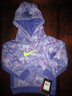 76922c25e NEW NIKE GIRL S 3   3T HOODIE JACKET THERMA - FIT PURPLE NEW  44 TAG