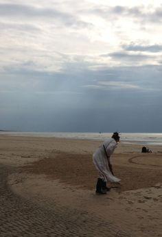 Sanddrawing Golden Ratio III Impuls!!! Zonneboom Katwijk aan Zee 7 april 2014