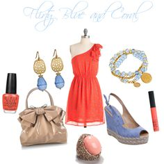 Love the dress, the ring, the finger nail polish, and the purse not really crazy about anything else.