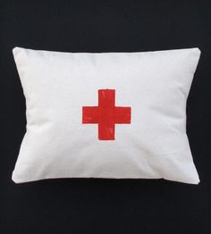 Red Cross Printed Pillow Cushion Cover by Confetti Riot on Scoutmob Shoppe