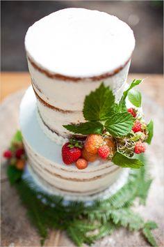 raspberry naked cake