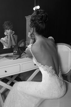 Incredibly beaded, low back wedding dress by Jovani