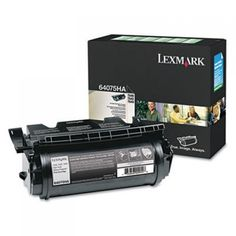 LEXMARK 64075HA / T64X BLACK HIGH YIELD TAA CARTRIDGE 21K RETURN PROGRAM. Brand Name: Lexmark Product Name: Black High Yield Return Program Toner Cartridge Marketing Information: Lexmark supplies are engineered to give your documents high quality, vibrancy and crispness to meet the highest professional standards. Lexmark's focus is on quality and consistency so your focus can be on your work. Product Type: Toner Cartridge Print Technology: Laser Print Color: Black Typical Print Yield…