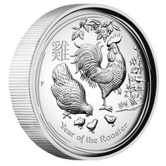 People born in the Year of the Rooster are regarded as hardworking, loyal, honest, and sociable. The rooster is also seen as a perfectionist! Australian Lunar Series II 2017 Year of the Rooster 1oz Silver Proof High Relief Coin