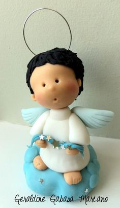 angel chico porcelana fria polymer clay.