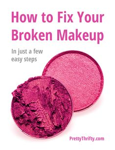 What? Had no idea you could do this! Easy peasy. Totally using this next time I drop an Eyeshadow. Works for blush, foundation, bronzer, anything! How to fix your broken makeup. PrettyThrifty.com