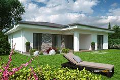 Projekty rodinných domov - projekt domu ELKO 110,zrkadlový
