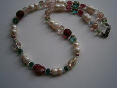 Kette mit Lampwork und Perlen Trachtenschmuck von kunstpause auf DaWanda.com
