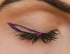 Mastering the secrets of the winged eyeliner...it's seriously that easy. I have to try this!