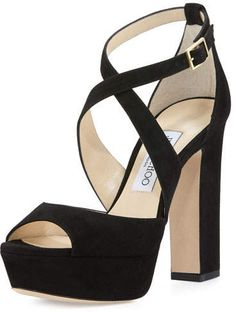 777f8e814a4 Jimmy Choo April Suede Crisscross 120mm Sandal