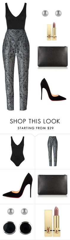 """Untitled #2005"" by meli-g35 ❤ liked on Polyvore featuring Topshop, Balmain, Christian Louboutin, Givenchy, Lord & Taylor and Yves Saint Laurent"