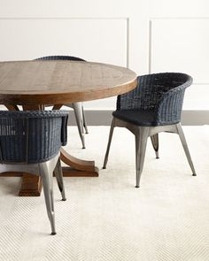 Kimmy+Dining+Armchair+&+Winthrop+Dining+Table+at+Neiman+Marcus.