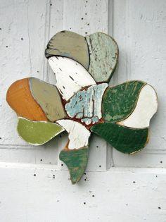 Wall Shamrock Recycled Wood Mosaic Art Irish Decor Green on Wanelo Rustic Wood Decor, Reclaimed Wood Art, Recycled Wood, Wood Mosaic, Mosaic Art, Mosaics, Irish Symbols, Irish Decor, Irish Cottage