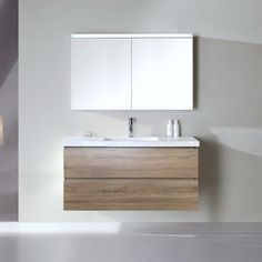 Bogetta 1200 mm White Oak Wall Hung Bathroom Vanity