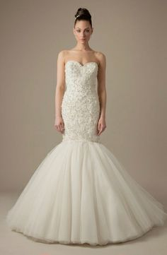Dennis Basso - Sweetheart Mermaid Gown in Beaded Embroidery