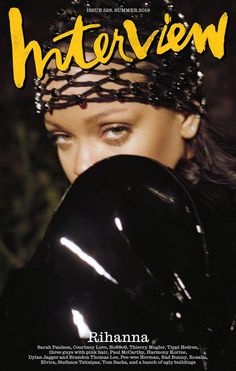 Barbadian superstar Rihanna takes the cover of Interview Magazine's Summer 2019 edition captured by fashion photographer Pierre-Ange Carlotti Guys With Pink Hair, Rihanna Cover, Paul Mccarthy, Harmony Korine, Magazin Design, Old Singers, Anthony Vaccarello, Printed Jumpsuit, Magazine Covers