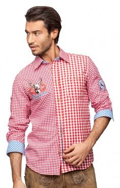 Chequered Oktoberfest Shirt RYAN red